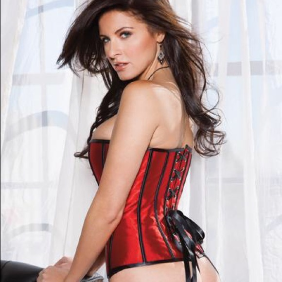 Lydia Other - Red corset with black design